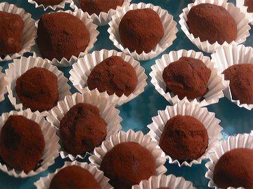 truffes en chocolat prise de vue culinaire